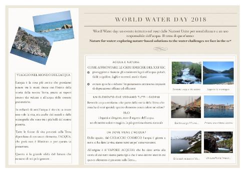 Volantino giornata mondiale dell'acqua