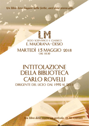 Intitolazione biblioteca al prof. Rovelli