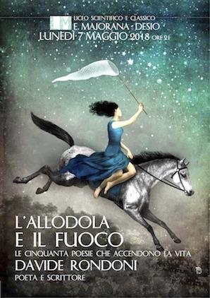 L'allodola e il fuoco: incontro col poeta Davide Rondoni